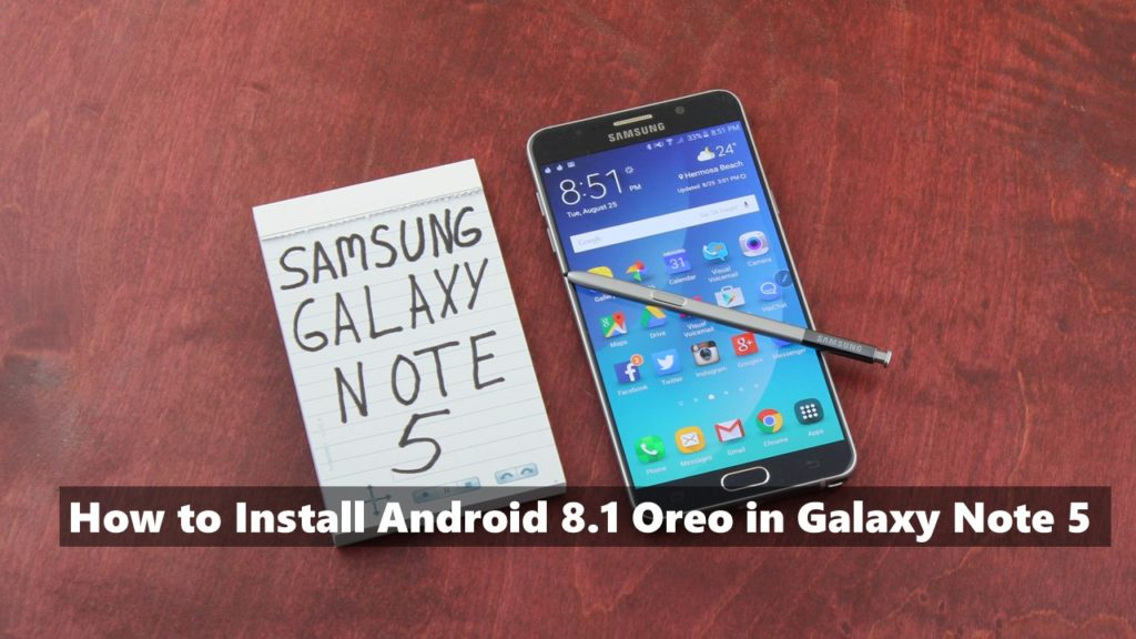 update android 8 note 5